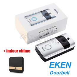 Discount wholesale doorbell chime - Original EKEN Home Video Wireless Doorbell 2 720P HD Wifi Real-Time Video Two Way Audio Night Vision PIR Motion with Plu