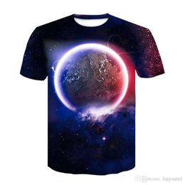 white shorts Australia - Earth T shirt Men Space Tshirt Moon 3d T-shirt Hip Hop Tee Cool Mens Clothing 2019 New Summer Casual Short Sleeve