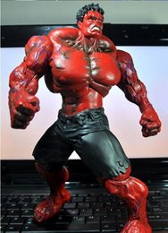 $enCountryForm.capitalKeyWord NZ - Red Hulk Action Figure The Avengers PVC Figure Toy Hands Adjusted Movie Lovers Collection