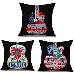 $enCountryForm.capitalKeyWord Australia - Pop Art Music Guitar Neck Body Pillowcase Linen Bed Pillows Cover Couch Seat Cushion Throw Pillow Home Decoration Gift