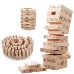 $enCountryForm.capitalKeyWord Australia - 2018 Large Building Wooden Tower Blocks Toy Domino Stacker Extract Building Educational Jenga Game Gift For Kids Puzzle Game