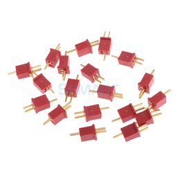 lipo connectors NZ - Parts & Accessories 20pcs Ultra Mini T Plug Connectors Micro Deans Plug Deans Connectors for RC LiPo NiMh Battery ESC Motor