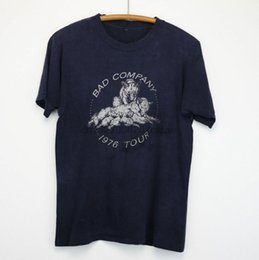 rolls pack Australia - BAD COMPANY Shirt Vintage T-Shirt Tour 1976 Run With The Pack Rock N Roll