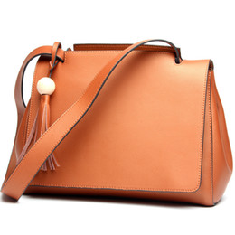 best brand ladies bag UK - 2017 Best Genuine Leather Handbags Spring Female Shoulder Fashion Ladies Totes Big Brand Ipad Pink Crossbody Women Bag J190511