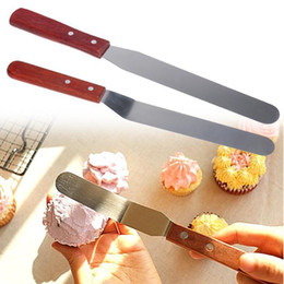 $enCountryForm.capitalKeyWord NZ - 6 8inch Wooden Handle Fondant Cake Spatula Cake Baking Cream Pastry Spatulas Cake Decorating Tools Kitchen Gadgets
