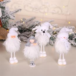 $enCountryForm.capitalKeyWord NZ - Christmas Cute Ornaments Silver Silk Plush Standing Posture Doll Window Snowman Decoration for Home Christmas Tree Xmas Gift