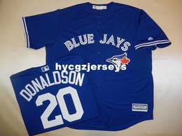 "cool base jersey cheap Australia - Cheap baseball #20 JOSH DONALDSON ""Cool Base"" SEWN shirt JERSEY BLUE Mens stitched jerseys Big And Tall SIZE XS-6XL For sale"