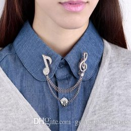 $enCountryForm.capitalKeyWord NZ - Music Note Large Brooches For Women Austrian Crystal Scarf Coat Clips Pins Icon Jewelry Party Dress Broche Decoration