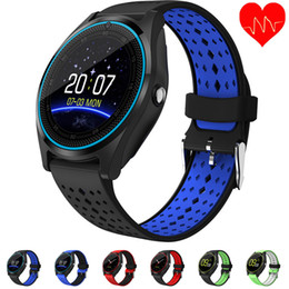 V9 Clock Camera Australia - Beseneur Bluetooth Smart Watch V9 with Camera Smartwatch Pedometer Health Sport Clock Hours Men Women Smartwatch For Android IOS