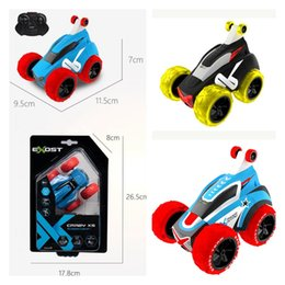 remote car toys for boys 2020 - Silverlit Mini Carzy Flip Car Electric Remote Control 11.5*9.5*7cm Rotate 360 Degrees Kids Big Wheels Car Toys For Boys