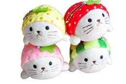plastic lions NZ - Lovely Japanese fruit sea lion Pendant Hailion baby plush toy doll machine 10cm