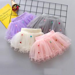 $enCountryForm.capitalKeyWord Australia - 4 Colors Summer Flowers Gauze skirt for Kids Children Short Party Dance Skirt Baby Girls TUTU Skirts Princess Party Costumes