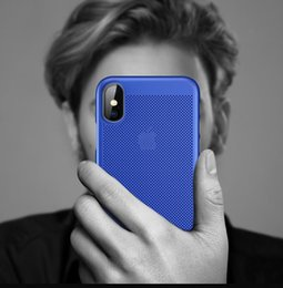 Hot Sales Iphone Case Australia - Hot sale Hollow Heat dissipation Case For iPhone Xs Max Xr X Breathable Cool Hard Back Protect Cover For iPhone 6-6S-7-8 Plus