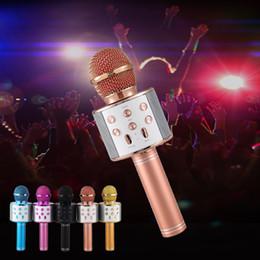 Professional Bluetooth Wireless Microphone Speaker Handheld Microphone Karaoke Mic Music Player Singing Recorder KTV Microphone new on Sale