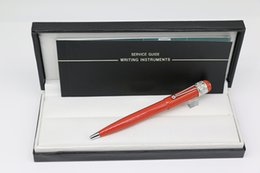 pen pent NZ - Great Inherit 1912 Collection SPIDER Ballpoint pen Red body with silver Trim Stationery office school supplies with MB Brands