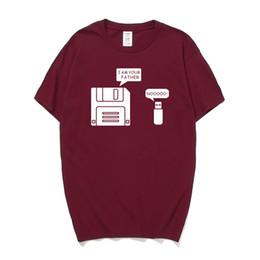 $enCountryForm.capitalKeyWord UK - New USB Floppy Disk I am Your Father T Shirt Men Cotton Short Sleeve Humor Disk T-shirt Casual Camisetas Hombre Mans