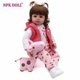 Npk 57cm Snow White Full Body Silicone Girl Reborn Babies Doll Toys Princess Babies Doll Wig Hair Birthday Gift Xmas Gift Toys & Hobbies Dolls