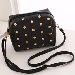 Red One Phone Australia - Fashion Lady Bags Pu Leather Zipper Rivets Design Woman Cross Body One Shoulder Messenger Bag Money Purse Girls Kyes Phone Bags