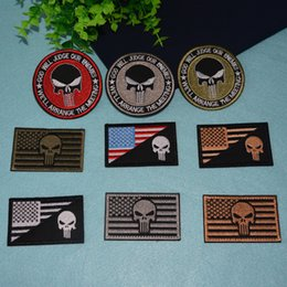 $enCountryForm.capitalKeyWord UK - Morale Badge 3D Embroidery iron on Patches for clothing Military Name Patch Punisher Armband Stickers American flag patches