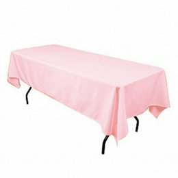 hotel round table 2019 - 145x304cm Satin Fabric Table Cloth Rectangular Tablecloth Table Covers Hotel For Wedding Restaurant Banqueting Black Pur