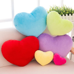 heart shaped plush NZ - 15cm Heart Shape Decorative Throw Pillow PP Cotton Soft Creative Doll Lover Gift