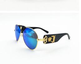 26493dbe5f Nuevo estilo 2019Versace medusa gafas de sol medio marco mujeres hombres  diseñador de la marca protección uv gafas de sol lentes transparentes y  lentes de ...
