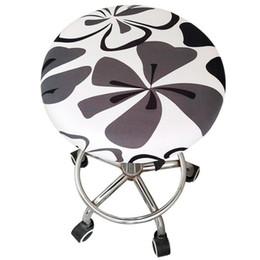$enCountryForm.capitalKeyWord NZ - 2Pcs Lot Round Stool Cover Elastic Chair Cover Stretch Dining Room Slipcover Round Chair Cover Removable Slipcover Rui0017