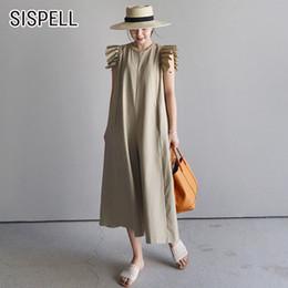 $enCountryForm.capitalKeyWord Australia - Sispell Summer Womens Jumpsuit Casual Loose Wide Leg Pants Ruffles O Neck Korean Style 2018 New Fashion Y19062201