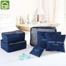 Storage Packs Australia - 6 Pcs Set Travel Luggage Storage Bag Waterproof Clothes Packing Cube Organizer Lightweight Mesh Toiletry Compression