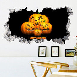 $enCountryForm.capitalKeyWord Australia - Happy Halloween Wall Decals PVC Horrible Pumpkin Lantern Wall Art Sticker for Living Room Bedroom and Bar Decor Halloween Poster