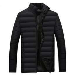 down feathers for clothing 2019 - MRMT 2019 Brand Winter Men's Jacket Thicker Down Feather Cotton Overcoat for Male Leisure Warm Outer Wear Clothing