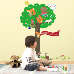 Squirrel Wall Stickers Australia - New Squirrel Tree Children's Room Kindergarten School Children's fun Decoration Wall paste PVC can be removed