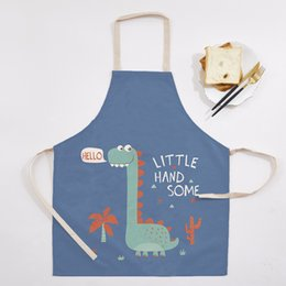 $enCountryForm.capitalKeyWord Australia - Custom Cartoon Christmas Kitchen Apron Cooking Dining Party Baking Apron Cotton Linen Printing for Women Men Adult Home Cleaning Accessories