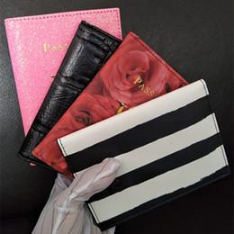 $enCountryForm.capitalKeyWord Australia - Women Fashion Pink stripe High Quality Travel Passport Holder Cover ID Card Bag Passport Protective Sleeve Women's Storage Bag VIP gift