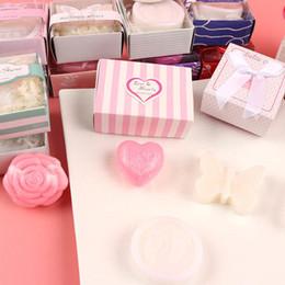 Baby Shower Gift Soaps UK - 20pcs lot Mini Wedding Favor Baby Shower Soap With Gift Package Baby Scented Soap T8190617