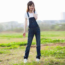 $enCountryForm.capitalKeyWord Australia - Good quality European Style Plus Size Women Loose Denim bib Jumpsuit Pockets Jeans Romper Coverall school girl sexy casual wear