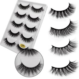 $enCountryForm.capitalKeyWord NZ - 5 Pairs 3D Mink Makeup Handmade Luxury Eyelashes Natural Long False Extension Exquisite Maquiagem lashes Long Strip Party C524