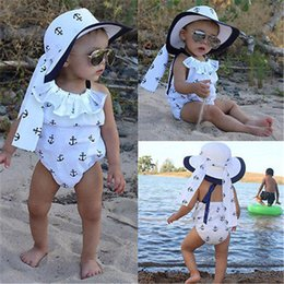 BaBy girl anchor clothing online shopping - Cute Newborn Baby Girl Clothes Summer Sleeveless Anchor Romper Headband Outfit Toddler Kids Sunsuit M
