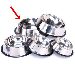 small ceramic bowls wholesale Canada - Stainless Steel Dog Bowl Pet Bowl large capacity great feeder for water and food for cats dogs Home Outdoor