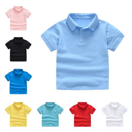 $enCountryForm.capitalKeyWord Australia - Kids Polo Shirt For Boys Girls Short Sleeve Solid Color T-shirt Summer Wear T Shirts Kids Tops Cotton T Shirts Children Clothes