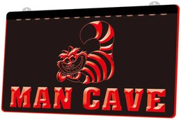 men neon signs Canada - LD0682 0 Cheshire Cat Man Cave RGB Multiple Color Remote Control 3D Engraving LED Neon Light Sign Shop Bar Pub Club