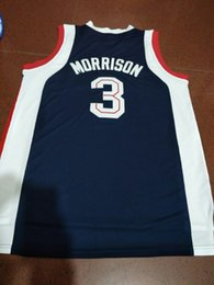 baf2e7d50fa7 Men blue white Gonzaga Bulldogs Adam Morrison  3 Full embroidery Size S-4XL  or custom any name or number College jersey