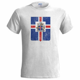 $enCountryForm.capitalKeyWord UK - ICELAND COAT OF ARMS DISTRESSED LOOK MENS T SHIRT EMBLEM ICELANDIC NATION FLAG white black grey red trousers tshirt