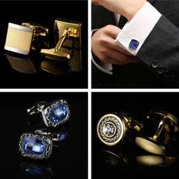 $enCountryForm.capitalKeyWord Australia - Gold Cuff Link 5 styles business Cuff Links fashion Cufflinks For man's French cufflinks wedding Best Fathers Day Xmas gift free TNT Fedex