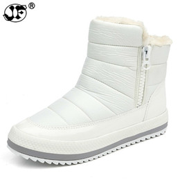 martin lights UK - Russian Winter Boots for Women Side zipper Women's Winter Shoes Female Snow Boots Comfortable Women's Shoes
