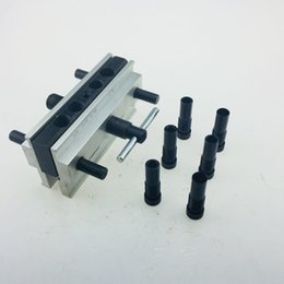 $enCountryForm.capitalKeyWord Australia - Punching Round Pin Drill Hole Locator Round Pin Hole Vertical Drilling Fixture Sets Wood Working Tool