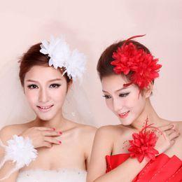 $enCountryForm.capitalKeyWord NZ - New Flower Feather Bead Corsage Hair Clips Fascinator Bridal Hairband Brooch Pin Hot