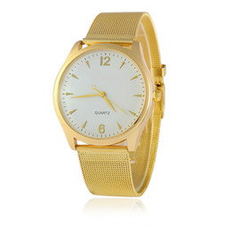 $enCountryForm.capitalKeyWord Australia - Hot Personality Men's Watch Wire Gold Mesh Belt Watch Men And Women Fashion Couple Student
