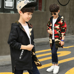 $enCountryForm.capitalKeyWord NZ - Boy Hoodies Children Double-side Wear Parka Spring Teenager Boys Camouflage Jacket Outwear Kids Coat Baby Boys Clothing