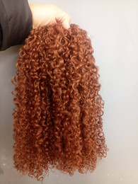 Long Blonde Hair Weaves Australia - Fullest end Long Chinese Strong Virgin Remy Curly Hair Weft Human Top Popular Hair Extensions Blonde Brown 30# Color 100g one bundle